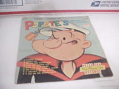 1959 Popeye Record in Colorful Sleeve, 45 RPM, Peter Pan
