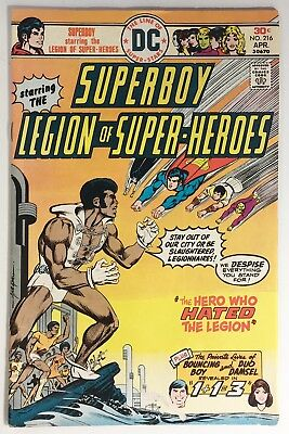 Superboy and the Legion of Super-Heroes #216 F/VF 1976, Mike Grell, Tyroc Cover!
