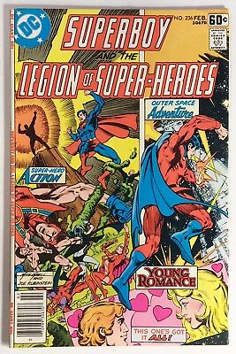 Superboy and the Legion of Super-Heroes 236 FN- Mike Grell, Voyeur Braniac 5!