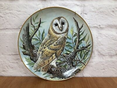 """1983 Franklin Porcelain Collector Plate """"The Barn Owl"""" Limited Edition"""