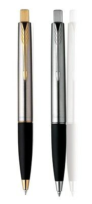 Parker Frontier Stainless Steel Gold and Chrome Tone Ballpoint Ball pen