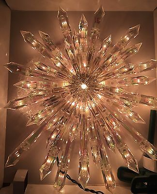 New Nativity Christmas Giant Prelit Crystal Tree Topper Star - Hard To Find