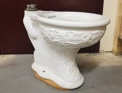 Fancy Antique Porcelain Toilet Bowl Circa 1900 Froelich Bros. NIAGARA