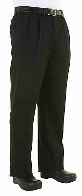 Chef Works Black Traditional Chef Pants 36 New