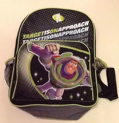 "Disney Toy Story 16"" Backpack Buzz Lightyear Book Bag 'Target is on Approach'"