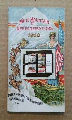 White Mountain Refrigerators,Maine Mfg.Co.,VINTAGE Sales Catalog,1910