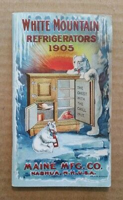 White Mountain Refrigerators,Maine Mfg.Co.,VINTAGE Sales Catalog,1905