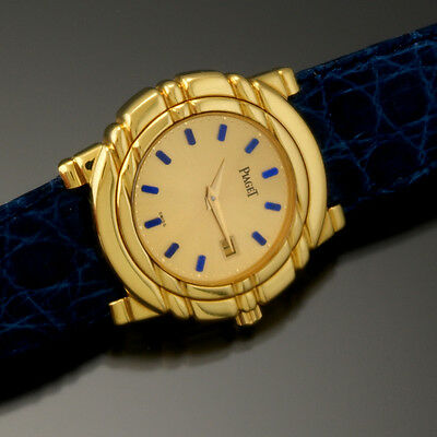 18K Solid Gold Piaget Watch | 9 Jewel Quartz Movt' with Box Triple Signed Piaget