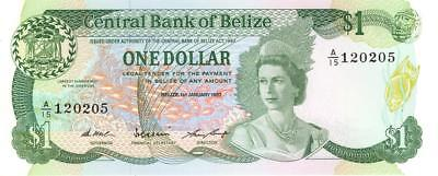 Belize $1 Currency Banknote 1987 CU
