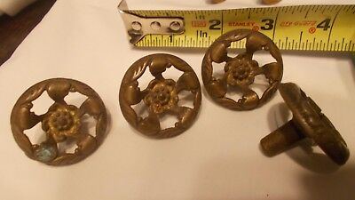 Vintage drawer pull handles 4 piece set 1-1/2 inches across
