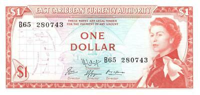 Eastern Caribbean States $1 Currency Banknote 1965 CU
