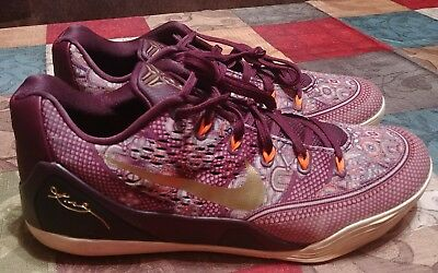 fc6f66bee19 Nike Kobe 9 IX Silk Road Merlot Gold basketball sneakers 646701-676 Size 11