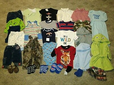 30 Pc Lot Baby Infant Boy Clothes 3 6 9 Months Outfits Carters