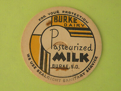 BURKE DAIRY, BURKE SD,   MILK BOTTLE CAP, 43 mm or 1 5/8 inches