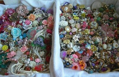 Lot over 8 & 1/2 lbs Jewelry for Crafts Repurpose Bouquet Wedding Flowers Hearts