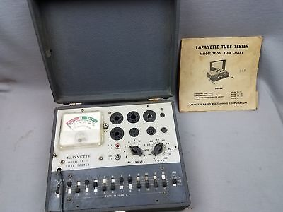 Vtg Lafayette Radio Tube Tester TE-55 Powers on no further testing SOLD AS IS NR