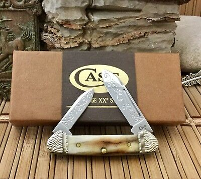 Case XX Beautiful Genuine VINTAGE STAG Scrolled Baby Butterbean Knife #2/10