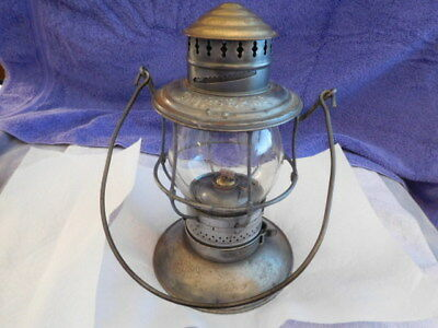 Railroad - Chicago Milwaukee&st.paul Rr Brass Top Lantern W Tall Cl Embossed Glb