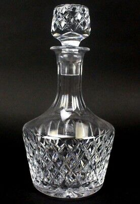 Vintage Signed White friars Crystal Cut Glass Liquor Decanter w/ Stopper NR PBB