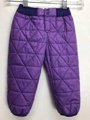 Baby Patagonia Reversible snow pants E108 12-18 Months Purple Floral