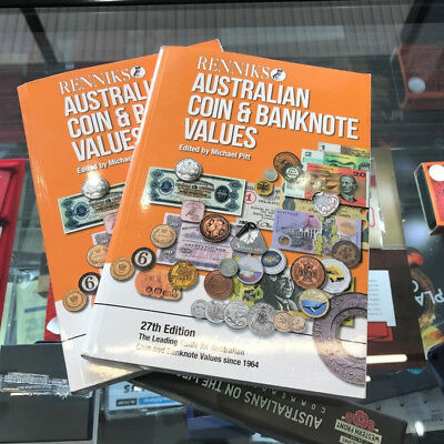 2017 Renniks Australian Coins & Banknotes Values Soft Cover Catalogue 27th, USED