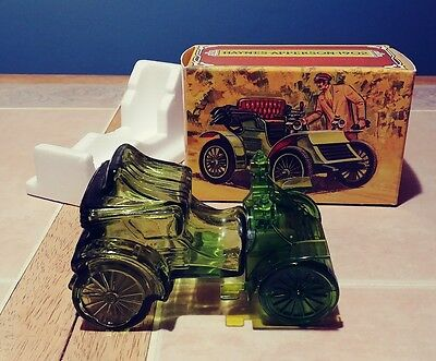 Avon Haynes Apperson 1902 Tai winds aftershave Empty Green bottle original box