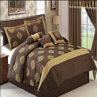 Judy Luxury 7PC Comforter Set Includes Comforter Skirt Shams and Pillows