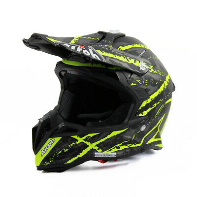Airoh Terminator Open Vision Motocross Helmet Carnage Yellow