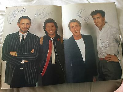 The Who signed tour programme 1982 -Superb