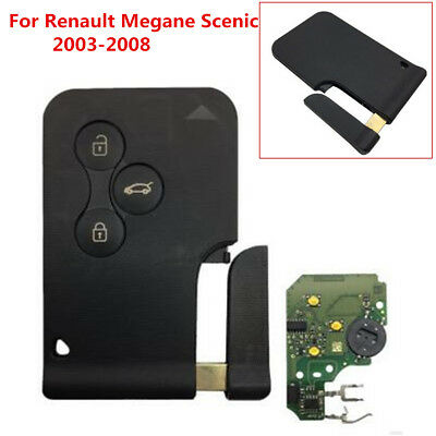 New Uncut Remote Car Key Fob 433MHz PCF7947 for Renault Megane Scenic 2003-2008