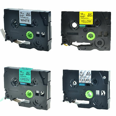 4PK TZe TZ 131 231 631 731 Label Tape For Brother P-Touch PT-6100 Printer 12mm
