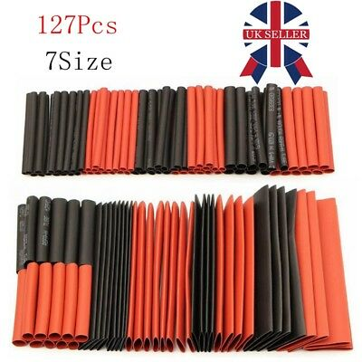 127PCS 2:1 Heat Shrink Tubing Wire Cable Sleeving Wrap Electrical Connection