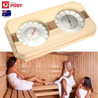 New Wooden Sauna Hygrothermograph Thermometer Hygrometer Sauna Room Accessory
