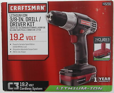 CRAFTSMAN  Li-Ion 3/8-in Drill Driver kit  45200