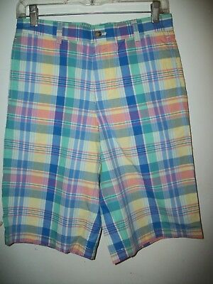 NWOT -VINEYARD VINES Girls size 16 Plaid Bermuda Shorts MSRP $49.50