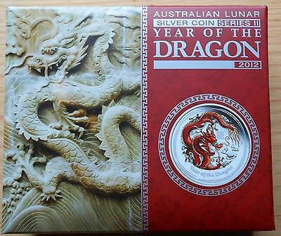 2012 Australia $1 Lunar Series II Year of the Dragon, Scarce Red Dragon Proof