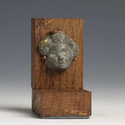 Roman Bronze Cherub Applique