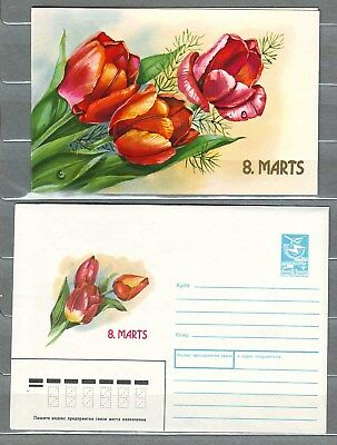 "Latvia - 1989 ""March 8"" Postal Stationary (Cover + Card)"