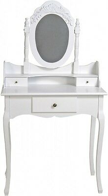 Make-Up Table Console Mirror White Antique Country House Wood Vanity Rosali
