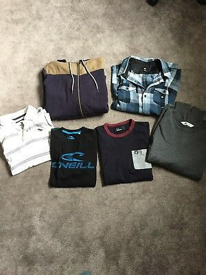 Boys Designer Clothes Bundle age 12-14 Fred Perry, DC, Abercrombie, O'neill, H&M