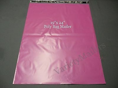 "5 Ex-Large Pink Poly Bag Shipping Envelopes 19""x 24"" Self-Sealing Mailers"