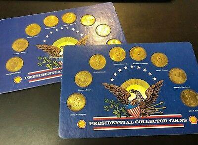 Lot of Two Shell Presidential Collector Coin Sets