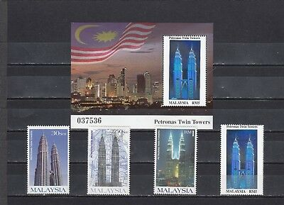 a130 - MALAYSIA - SG768-MS771 MNH 1999 COMPLETION OF PETRONAS TWIN TOWERS