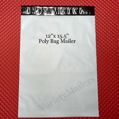 "10 Poly Bag Postal Envelope Mailers 12"" x 15"" Self-Sealing ~ eBay Branded ~"