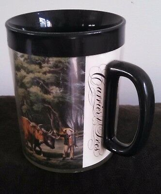 Currier and Ives Thermo-Serv by West Bend coffee mug American Farm Scenes
