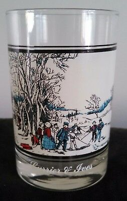 Vintage 1978 Currier and Ives Arby's Collector's Series glass Winter Pastime