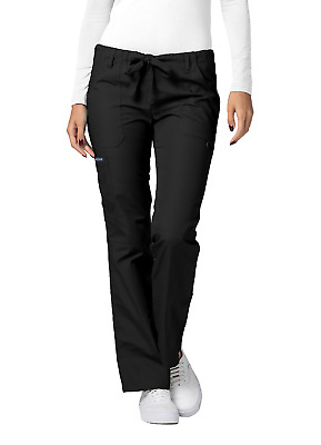 Adar Medical Uniform Low Rise Multi Pocket Drawstring Straight Leg Scrub Pants
