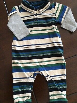 TEA Long Sleeve One-Piece Romper, 0-3 Months, New Missing Tags