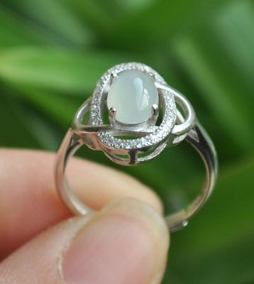 Certified 100% Natural A Emerald Jade Pendant~Ring  925 Silver (Free size)