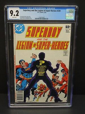 Dc Comics Supeboy And The Legion Of Super-Heroes #239 1978 Cgc 9.2 White Pages